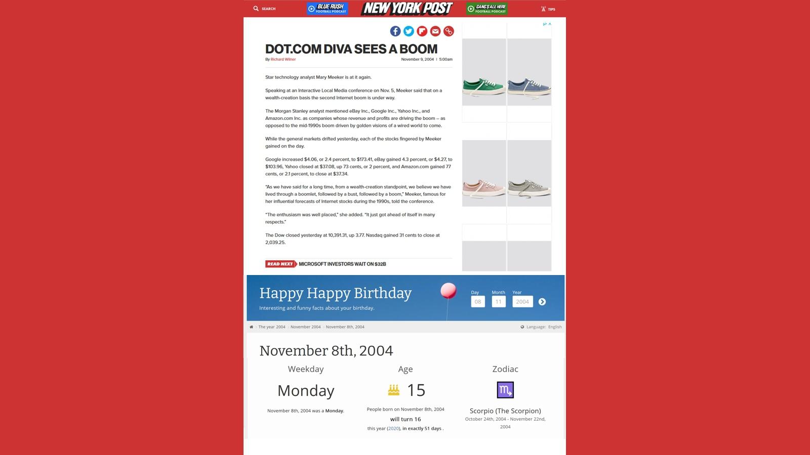 08 November 2004 NY Post 16x9