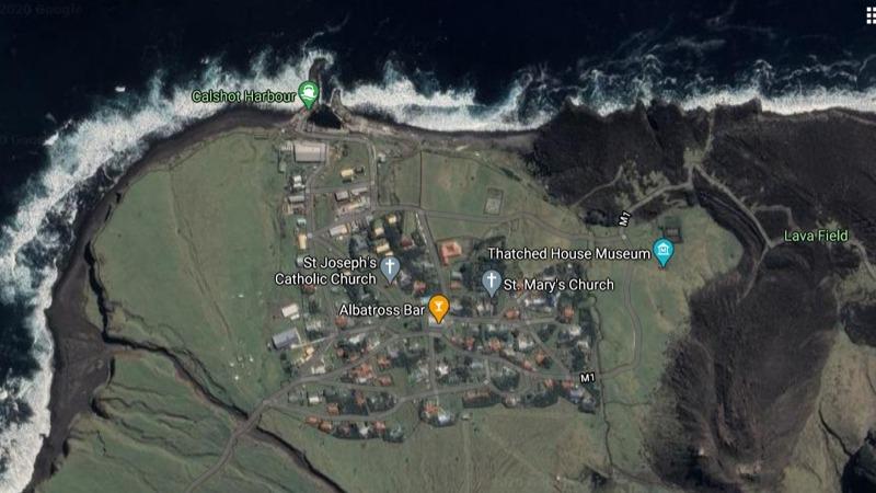 Tristan da Cunha Islands UK Aerial Map