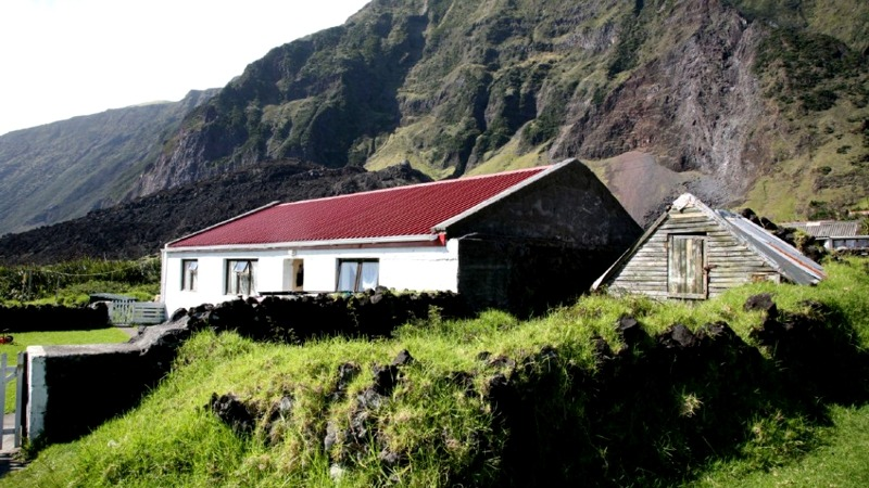 Tristan da Cunha Islands UK Rock Hopper Cottage