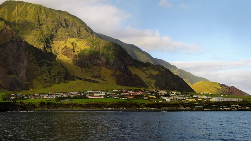 Tristan da Cunha Islands UK Village