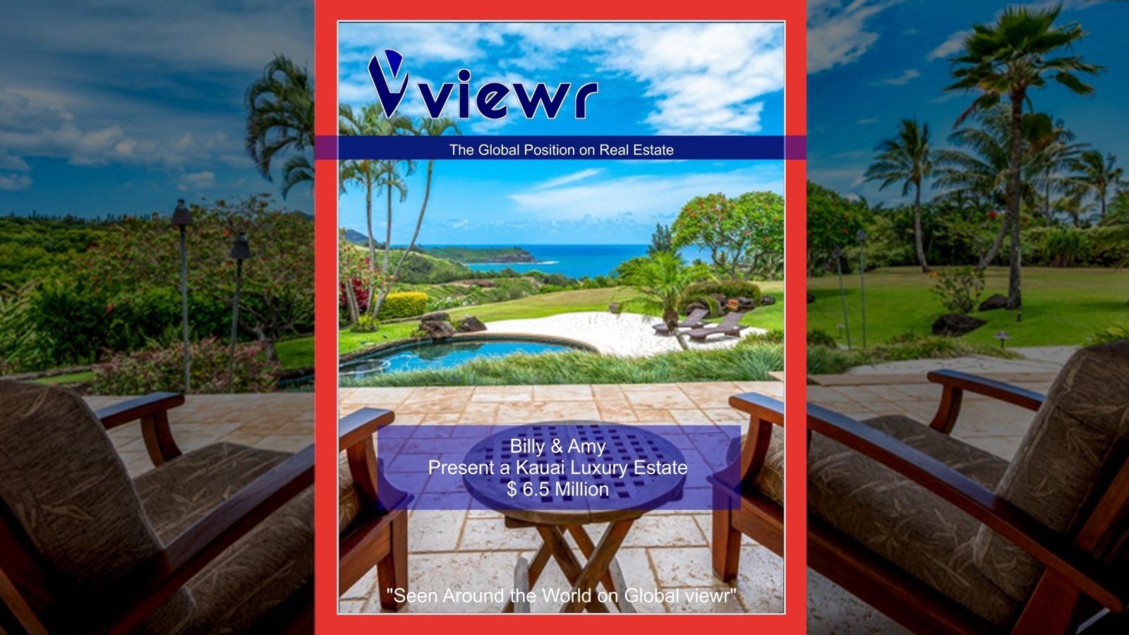 Billy and Amy Kauai Hawaii Real Estate on Global viewr Magazine