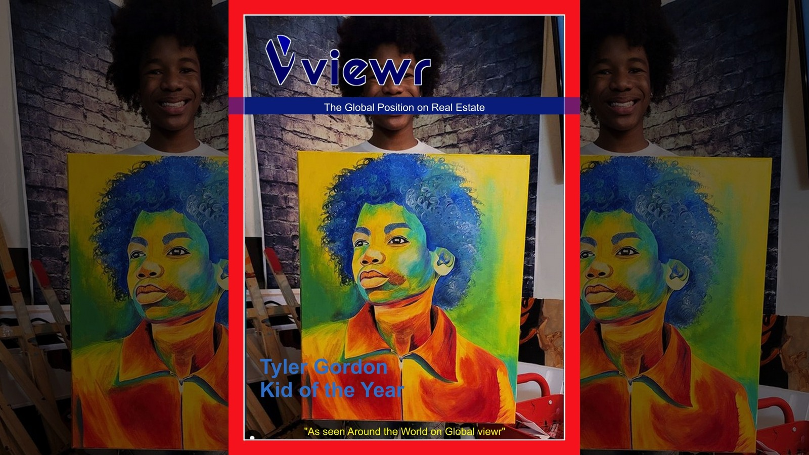 Tyler Gordon Artist Kid of the Year on Global viewr Magazine